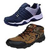 #3: Earton Men Combo Pack of 2 Sports Shoe with Casual Shoe