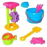 Homyl Kinder Strand Sand Sandkasten Spielzeug Set, Inkl. Sandrad, Sandschaufel, Sandrechen, Gießkanne, usw. - # F