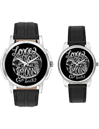 Couple Watches - BigOwl Multicolor Dial Couple Combo Watch For Men And Women   Valentines Day Gifts - Unique Leather...