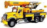 BRUDER - 02818 - Camion MACK avec grue LIEBHERR intégrée - Jaune
