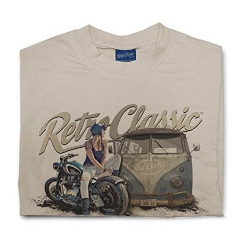 RetroClassic Herren T-Shirt Beige - Sand