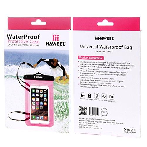 Wkae Case & Cover tous haweel transparent sac étanche avec cordon pour iphone 5 &6 plus / 6s &6s et samsung galaxy s6 / s5 / note 5 ( Color : Pink ) Pink