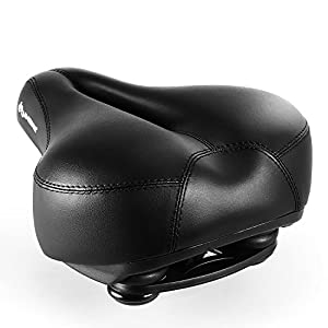 INBIKE Bicycle Saddle, Breathable and Professional 27 * 20cm Color Black