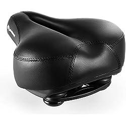 INBIKE Sillín Bicicleta, Transpirable y Profesional 27 * 20cm Color Negro
