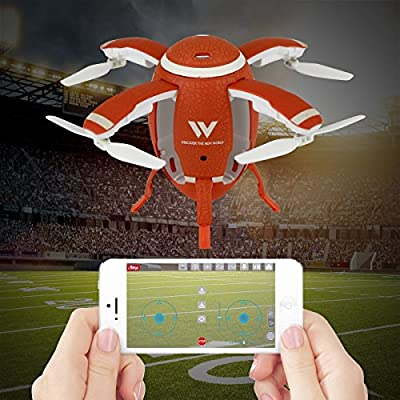 QUN FENG Mini Drone for Kids and Adults RC Quadcopter with WIFI FPV 0.3HD Camera 360°Mini Rugby Quadcopter Drone Headless Mode One Key Take Off and Return Voice Control from QUN FENG