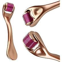 Dermaroller 1.0mm + Free User Guide-540 Micro Needle Roller Einsatz auf Falten, Schwangerschaftsstreifen, Akne, Haarausfall, Narbenentfernung und Hyper-Pigmentierung