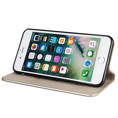 Schöner eleganter magnetischer Verschluss PU-lederner schützender Abdeckungs-Fall mit Kickstand und Einbauschlitz für iPhone 7 plus und 8 Plus ( Color : Red ) Gray