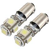 2x AMPOULE 5 LED 5050 SMD BA9S H6W T4W VEILLEUSE BLANC ANTI SANS ERREUR ODB Lampe