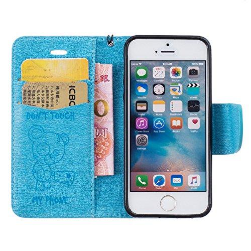 custodia portafoglio iphone 5se