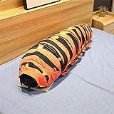 Yuhualiyi123 Romanzo del Fumetto Multicolore Caterpillar Giocattolo della Bambola della Peluche Cuscino Creativo Spoof Tricky Doll Regalo Pillow (Color : Red Striped, Size : 50 cm)