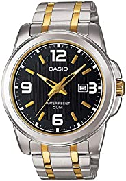 Casio Men`s Black Dial Metal Band Watch [MTP-1314SG-1AVDF]