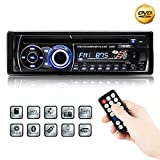 Favoto Bluetooth Autoradio CD DVD Player 4 x 60W FM Stereo Radio 1DIN USB/SD/AUX Receiver Freisprecheinrichtung