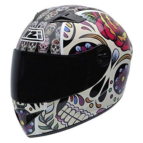 NZI Must II Graphics Casco De MotoMexican Skulls