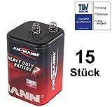 Blockbatterie Trockenbatterie Batterie Typ 4R25 Campingbatterie 6Volt 9Ah Baustellenbatterie für Handlampe Baustellenlampe Campingleuchte Blinkleuchte Warnlampe (15)