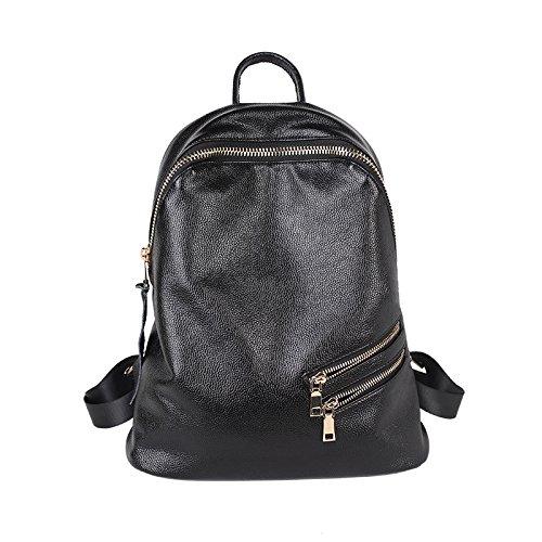 sprnb Rucksack Tasche von großer Kapazität Wind Jogakuin minimalistischen Reisetasche aus Leder Black