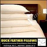 Textile Online - 4 cuscini con imbottitura in piuma d'oca, qualità hotel