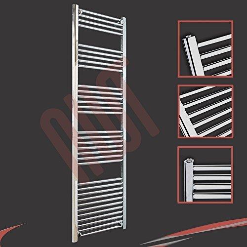 500mm (w) x 1800mm (h) - Radiateur sèche-serviettes plat chromé Barre Horizontale Diamètre: 22mm, Bar Modèle: 4 + 5 + 6 + 7 + 11