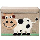 TsingLe - Caja de Almacenamiento para Juguetes con Tapa, Organizador de Almacenamiento, Grande, para Guardar Juguetes, Libros, Ropa de Cama, 36 x 52 x 35 cm, 65 l