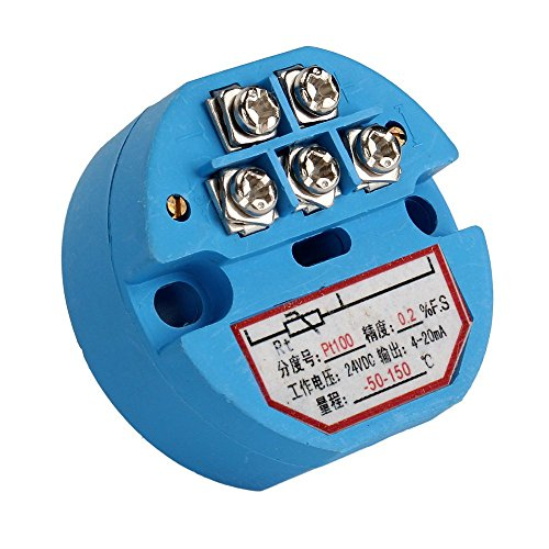 Kunststoff PT100Temperatur Sensor Transmitter-50-150C Ausgang 4-20mA 24VDC -