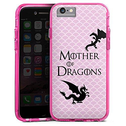 Apple iPhone X Bumper Hülle Bumper Case Glitzer Hülle Drachen Game Of Thrones Got Bumper Case transparent pink