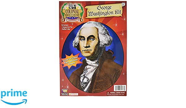 Colonial George Washington Captain Cook Mozart Fancy Dress Costume WIG