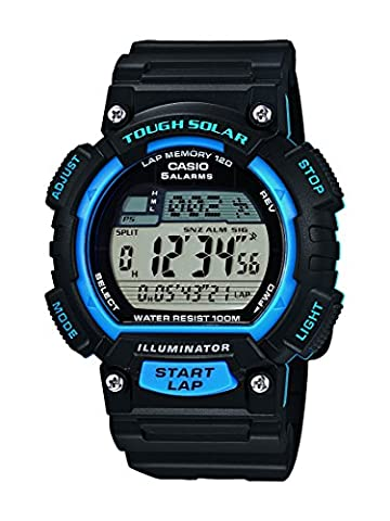 Casio Collection - Unisex-Armbanduhr mit Digital-Display und Resin-Armband - STL-S100H-2AVEF (Sportuhr Herren Blau)