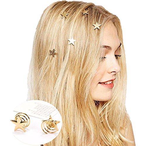 arspiralen Curlies Art und Weise Damen Mädchen Haarspange Haarklammern Haarschmuck Hochzeit (Halloween-kostüme Für Blonde Mädchen)