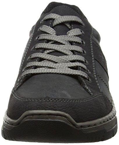 Rieker Herren 16921 Sneaker Schwarz (Schwarz/Coal)