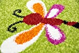 Traum Kinderteppich Spielteppich Kinderzimmerteppich Panda mit Eulen Schmetterlinge und Vögeln in Grün, Größe 120x170 cm Test