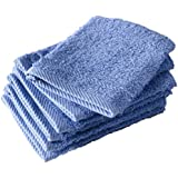 De Witte Lietaer 194824 Lote de 6 manoplas de baño Algodón Azul 15 x 22 cm