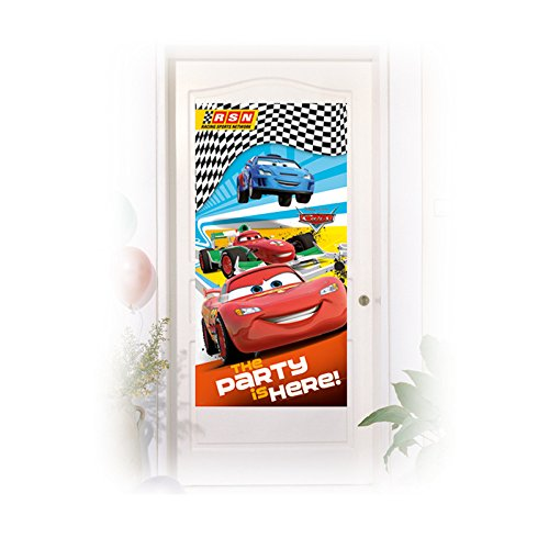 NEU Tür-Deko Cars, 76x152 cm (Auto Rennen Kostüm)