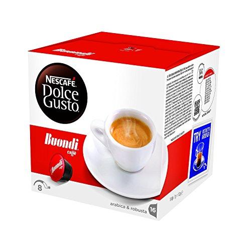 NESCAFÉ DOLCE GUSTO ESPRESSO BUONDI Caffè espresso 3 confezioni da 16 capsule [48 capsule]