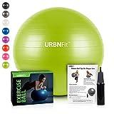 Gymnastikball Übungsball (Mehrere Größen) für Fitness, Stabilität, Balance, Yoga, Schweizer, Schwangerschaft Ball - Übungsleitfaden Inbegriffen - Schnelle Pumpe Inklusive - Anti-Burst Professionelle Qualität - 55cm, Grün