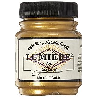 Jacquard Produkte 2,25oz Lumiere Metallic Acrylfarbe, True Gold
