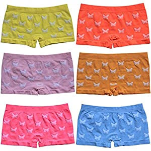 BestSale247 12 Stück Mädchen Pantys Hipster Shorts Boxershorts Girls Unterhosen Kids Unterwäsche Mikrofaser bunt 92 bis 158