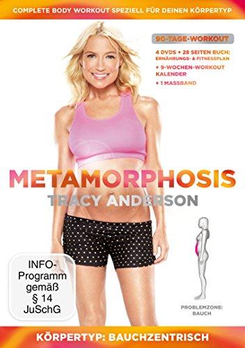 Tracy Anderson - Metamorphosis, Körpertyp: Bauchzentrisch, Problemzone: Bauch [4 DVDs] Lachs-tag