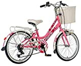 breluxx 20 Zoll Kinderfahrrad Venera Fashion Secret Garden Citybike Korb