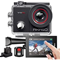 AKASO EK7000 Pro Action Camera with Touch Screen EIS Adjustable View Angle 40m Waterproof Camera Remote Control Sports Camera with Helmet Accessories Kit