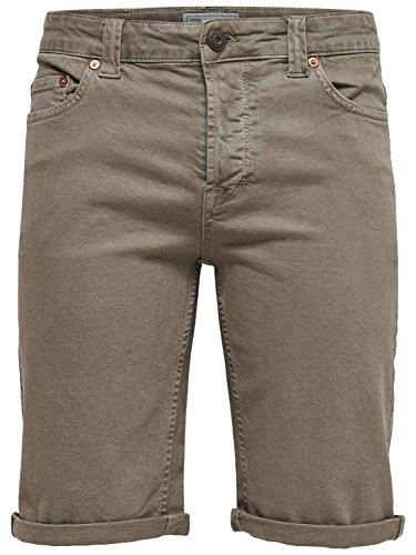 Only & Sons Shorts Onsply Shorts Twill Pk 8616 Fallen Rock Beige