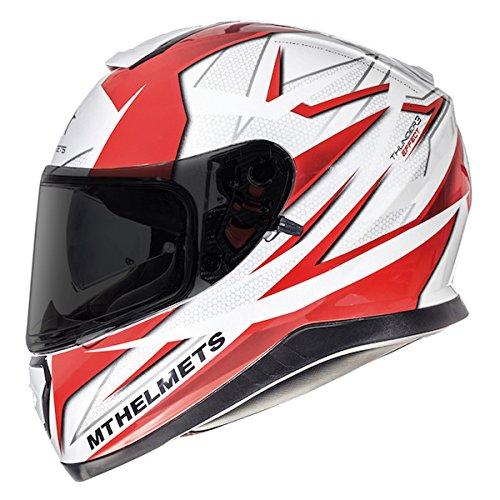 MT Thunder 3Effekt Helm rot/weiß Full Face Motorrad Helm