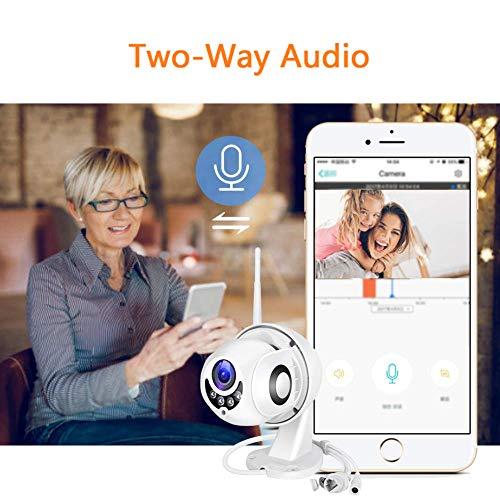 PTZ Kamera Aussen WLAN IP Dome Überwachungskamera 1080P Pan 355°/ Tilt 90°, Zwei Wege Audio, APP Alarm, IR Nachtsicht, Bewegungserkennung, IP66 Wasserdicht, Fernzugriff
