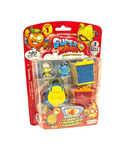 Superzings - Rivali di Kaboom Figure, Package Hideout, Serie 1, Assortito