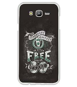 PrintVisa Designer Back Case Cover for Samsung Galaxy J5 (2015) :: Samsung Galaxy J5 Duos (2015 Model) :: Samsung Galaxy J5 J500F :: Samsung Galaxy J5 J500Fn J500G J500Y J500M (Typhogaphy Starbucks Free Coffee Years Quote)