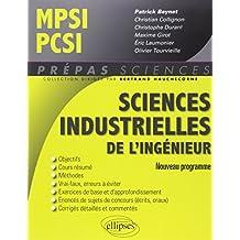 Sciences Industrielles de l'Ingénieur MPSI PCSI Nouveau Programme
