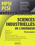 Sciences industrielles de l'ingénieur MPSCI-PCSI