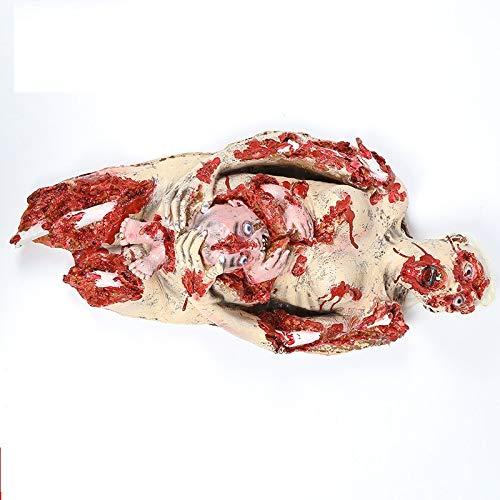 Halloween Horror Dekoration Mutter und Kind Faule Simulation Menschlicher Körper Spukhaus Scary Dekoration, 43x88cm