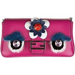 Fendi bolsos con asas largas para compras mujer en piel nuevo micro baguette fux
