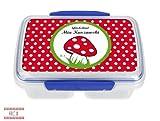 Brotdose mit Namen, Motiv Pilz, Kleeblatt, eigene Lunchbox von Finlix