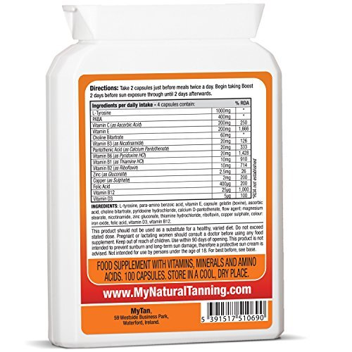 MyTan Boost Sun Tanning Tablets, 100 Tablets, All Natural Tan Pills, 100% Guaranteed, Tanning Accelerator