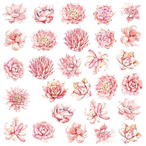 Emorias 1PCS Aufkleber Cartoon kreative Handkonto Aufkleber DIY dekorative Material Kinder kleine Aufkleber Sticker Tasche (Pinke Blume) -